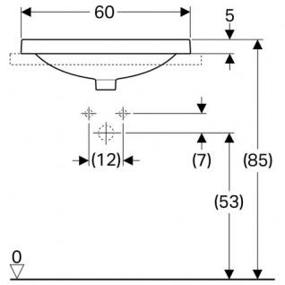 Lavoar eliptic incorporat 60 cm Variform Geberit [1]