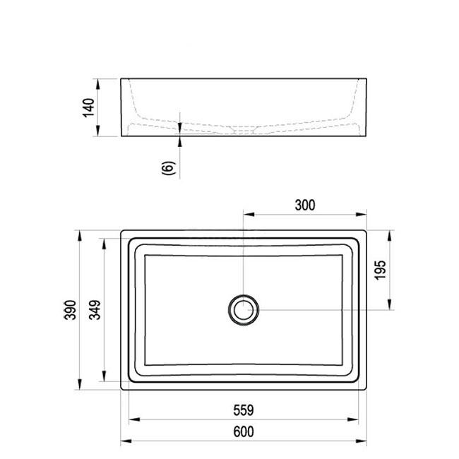 Lavoar Formy 01 Ravak 600 mm [6]