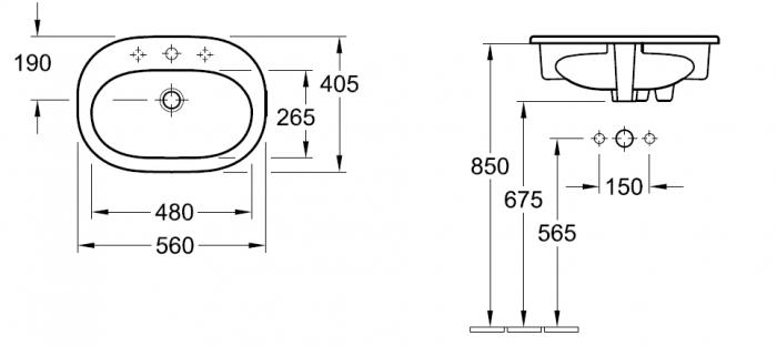Lavoar O.Novo VILLEROY&BOCH 41615601 1