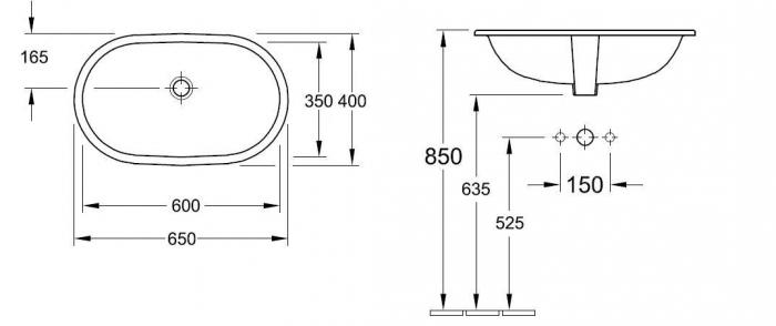 Lavoar O.Novo VILLEROY&BOCH 41626001 1