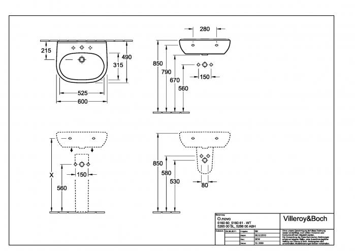 Lavoar O.novo VILLEROY&BOCH 51606001 [2]