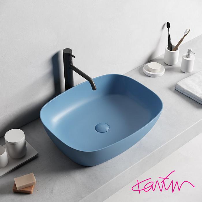 Lavoar Pearl Color Bleu cu ventil [1]