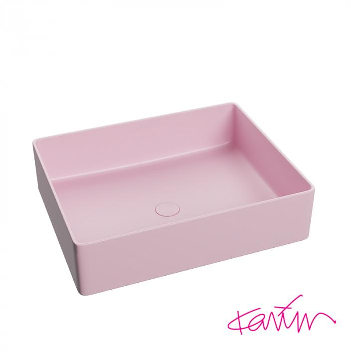 Lavoar Pure Color Roz mat cu ventil [0]