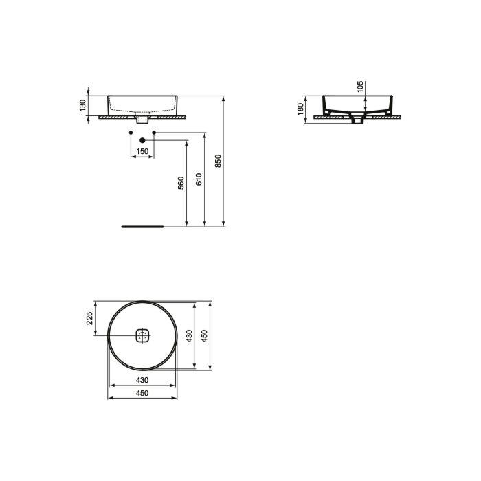 Lavoar rotund Strada II Ideal Standard 45 cm [1]