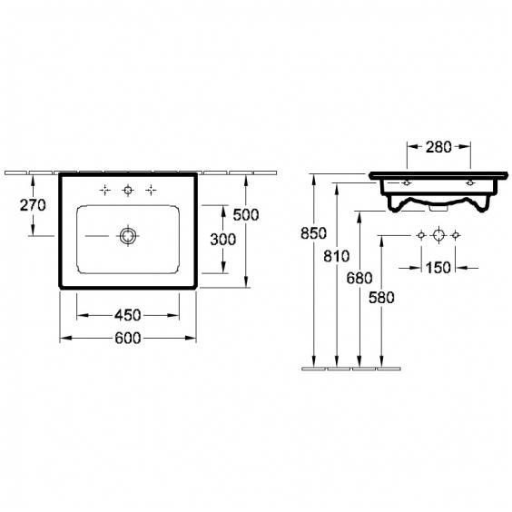 Lavoar Venticello VILLEROY&BOCH 41246001 1