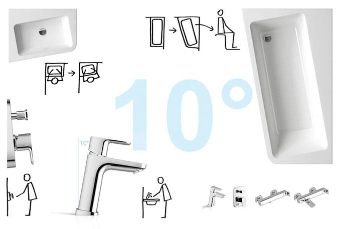 Mobilier baie SD 10° de colt L/R X000000740 2