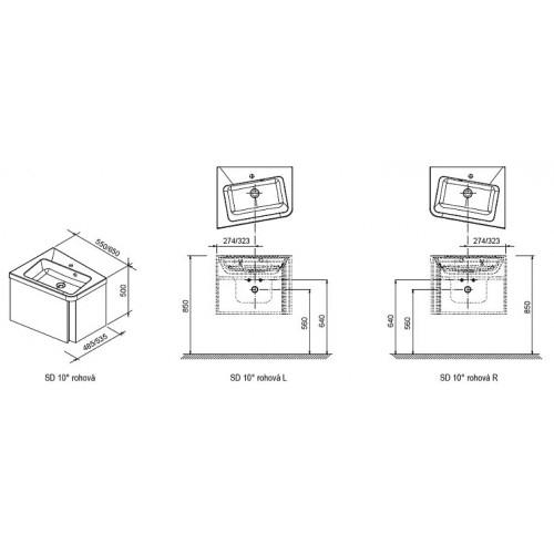 Mobilier baie SD 10° de colt L/R X000000745 4
