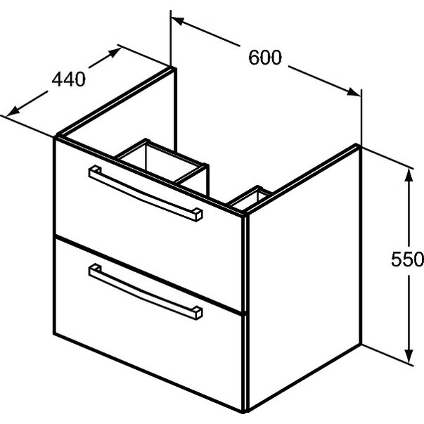 Mobilier suspendat 60 cm Tempo Ideal Standard [2]
