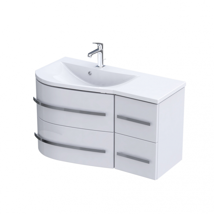 Set mobiler baie suspendat si lavoar Opal Oristo stanga [0]