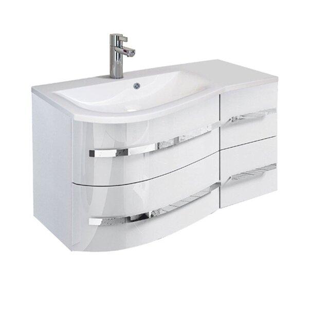 Set mobiler baie suspendat si lavoar Opal Oristo stanga [3]
