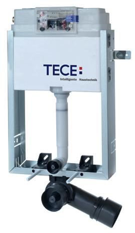 Rezervor incastrat pentru constructii din zidarie, cu actionare frontala TECE.Pentru sanitare cu fixare in pardoseala 0