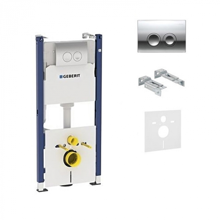 Rezervor ingropat pentru wc Geberit Duofix UP182/UP100 cu clapeta DELTA21 +sistem fixare 0