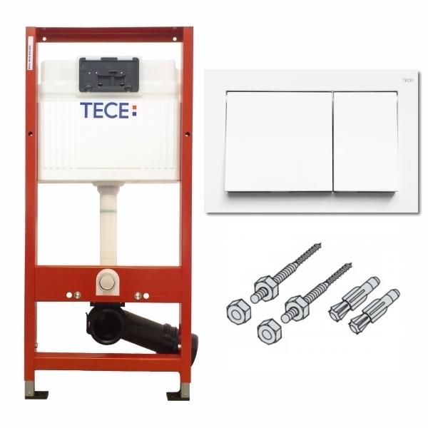 Rezervor ingropat Wc, cu cadru TECE BASE actionare frontala, H = 1120 mm cu clapeta si sistem fixare incluse [0]