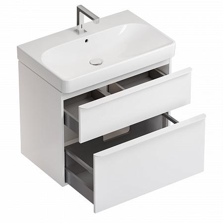 Set mobilier pentru baie suspendat și lavoar Smyle Square 75  Geberit [2]