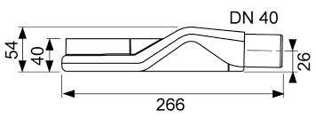 Sifon orizontal extraplat TECEdrainline DN 40, debit 0,5 l/s, inaltime montaj 67mm 2