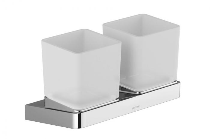 Suport pahar dublu sticla Concept 10┬░ TD 220.00 Ravak [0]