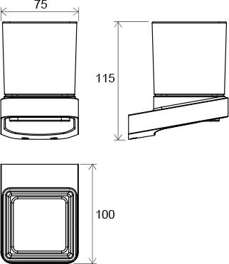 Suport pahar sticla Concept 10┬░ TD 210.00 Ravak [1]