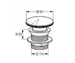 Ventil de scurgere lavoar blocabil KLUDI g 1 1/4 pentru lavoar fara preaplin 1