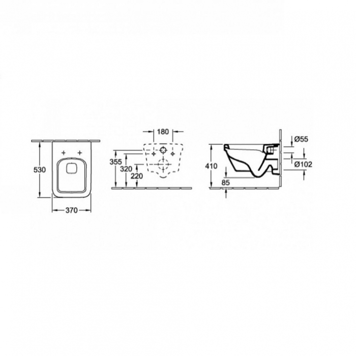 WC Architectura cu capac 5685HR01 combi VILLEROY&BOCH DirectFlush 3