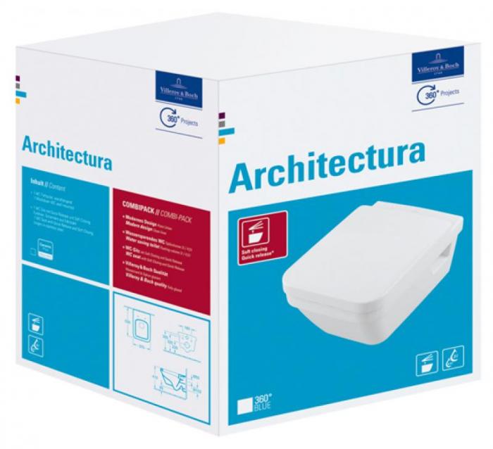WC Architectura cu capac 5685HR01 combi VILLEROY&BOCH DirectFlush 0