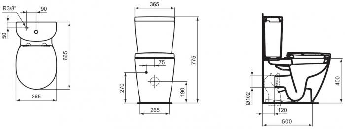 WC stativ BTW Connect Ideal Standard E803701 [1]