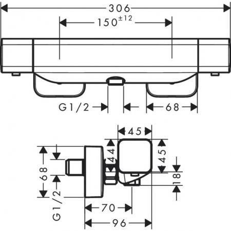 Baterie termostatică duș Ecostat E Hansgrohe [2]