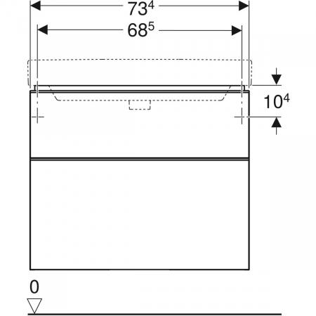 Set mobilier pentru baie suspendat și lavoar Smyle Square 75  Geberit [6]