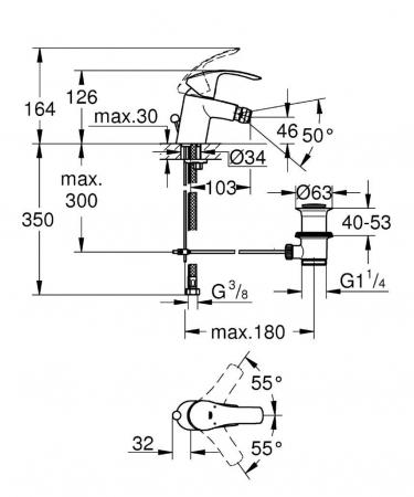 Baterie bideu 32929002 Eurosmart Grohe1
