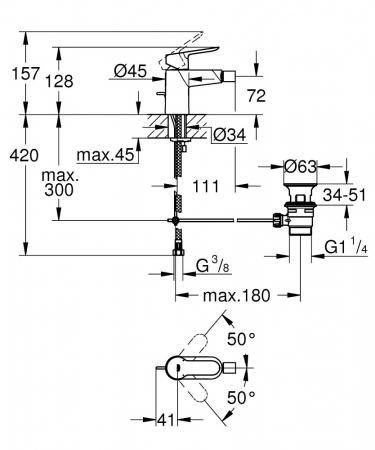 Baterie bideu BauEdge 23331000 Grohe [2]