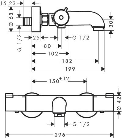 Baterie cada termostatica Ecostat 1001 CL [1]