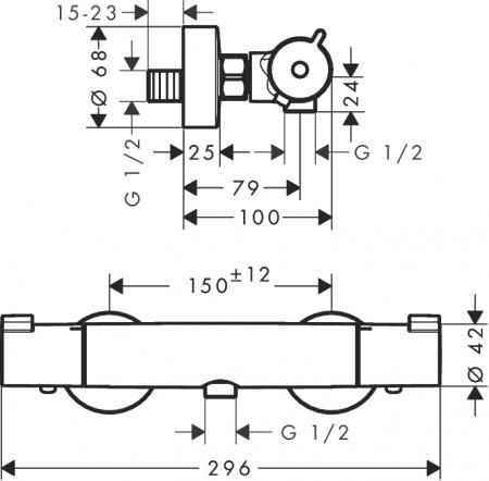Baterie dus termostatica Ecostat 1001 CL [1]