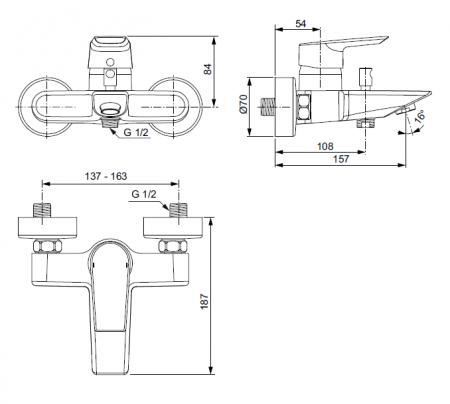 Baterie dus Tesi Ideal Standard A581AA [1]
