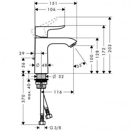 Baterie lavoar Metris 110 [1]