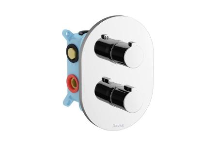 Baterie termostatata incastrabila cu trei cai Ravak0