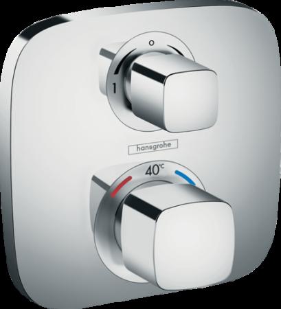 Baterie duș termostatică cu 2 ieșiri Ecostat E Hansgrohe încastrată [0]
