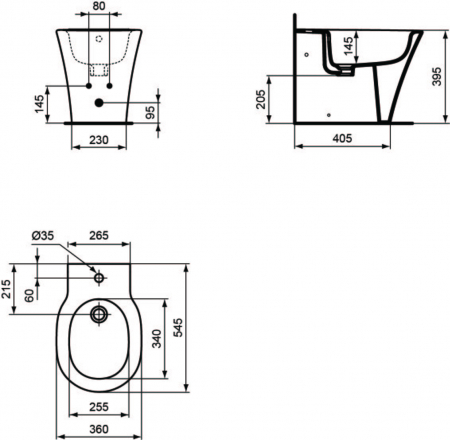 Bideu stativ Connect Air Ideal Standard E018001 [1]
