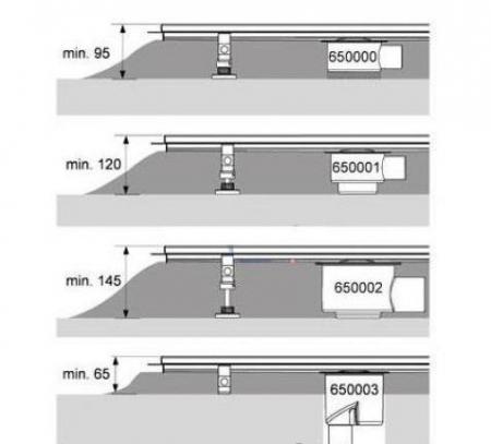 Canal5 de dus TECE drainline pentru piatra naturala, dreapta, cu membrana de etansare Seal System, inclusiv placa suport pentru partea centrala detasabila L = 120cm3