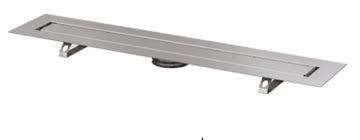Canal2 de dus TECE drainline pentru piatra naturala, dreapta, cu membrana de etansare Seal System, cu placa suport pentru partea centrala detasabila L =80 cm3