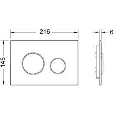 Clapeta de actionare in doua trepte, pentru sisteme de spalare tip wc crom lucios loop TECE1