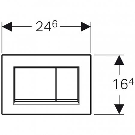 Clapeta de actionare Sigma 30 Geberit Sigma30crom11