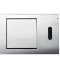 Clapeta electronica pentru sisteme tip wc cu senzor infrarosu si alimentare la baterie de 6v crom lucios0