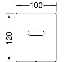 Clapeta urinar electronica prevazuta cu senzor infrarosu si alimentare electrica 1X220 V/12 V crom lucios1