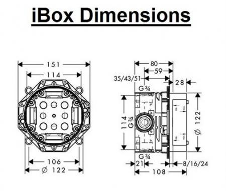 Corp încastrat IBOX universal Hansgrohe [1]
