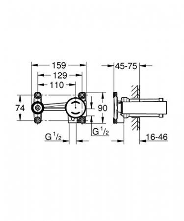 Corp incastrat baterie lavoar monocomanda 23571000 Grohe [1]