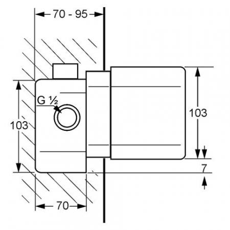 Set Termostat Corp incastrat KLUDI DN 15 t 351561