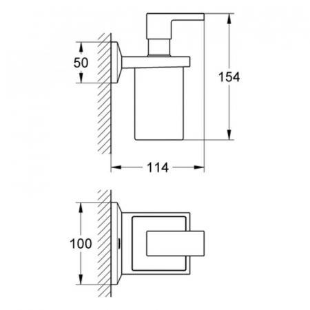 Dispersor sapun lichid cu suport 40494000 Grohe Allure Brilliant [1]