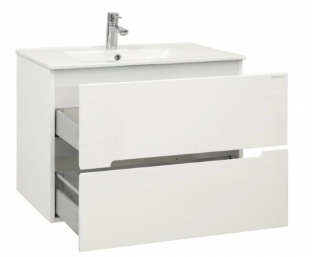 Set mobiler baie suspendat si lavoar Silver Oristo 60 alb [2]