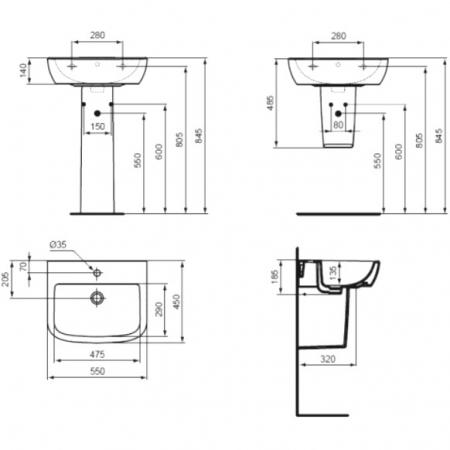 Piedestal suspendat Tempo Ideal Standard [1]