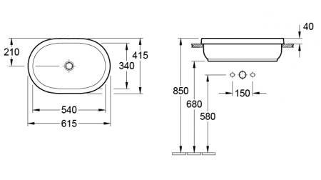 Lavoar Architectura VILLEROY&BOCH 416660011
