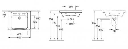 Lavoar Architectura VILLEROY&BOCH 517867011